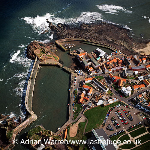 Dunbar and harbour, town in East Lothian on the southeast coast of Scotland, Lowlands, Scotland