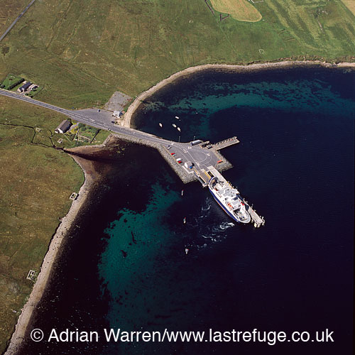 Toft ferry terminal, north of Mainland Shetland, Shetland Islands, Scotland