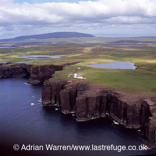 Esha Ness (Eshaness) Lighthouse and Volcanic Cliffs, Northmavine peninsula, Shetland Islands, Scotland