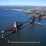 The Forth Bridge, a cantilever, railway bridge over the Firth of Forth in the east of Scotland, Lowlands, Scotland
