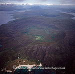 Ardnamurchan, shows he rings of the CALDERA, crater left behind by a collapsed volcano, Highlands, Scotland