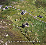 Dun Carloway, a broch 2 km to the south-west of Carloway, on the west coast of the Isle of Lewis, Outer Hebrides, West Coast Scotland