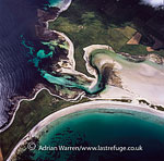 Colli Ness, Sanday, area of saltmarsh and shingle spit important huting area for raptors, Orkney Islands, Scotland