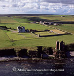 Keiss old and new Castle, Caithness, Highlands, Scotland