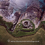 Midhowe Broch, Rousay, Orkney Islands, Scotland
