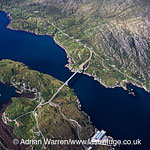 Isle of Scalpay with bridge to Isle of Lewis, Outer Hebrides, West Coast Scotland