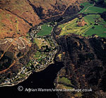 St Fillans and site of hill fort, Loch Earn, Highlands, Scotland