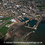 Arbroath and harbour, Arbroath, Angus, Lowlands, Scotland