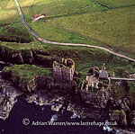 Castle Sinclair & Girnigoe, 3 miles north of Wick on the east coast of Caithness, Highlands, Scotland