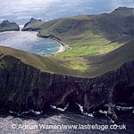 Volcanic cliffs at Hirta, St Kilda , Outer Hebrides, West Coast Scotland