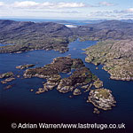 Stockinish Island (Eilean Stocinis), just to the south east of Harris on the edge of the Minch, in Loch Stockinish, Outer Hebrides, West Coast Scotland
