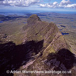 Suilven (Torridonian sandstone, sitting on a landscape of Lewisian Gneiss), far northwest of Sutherland, Highlands, Scotland