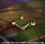 Flint Castle, Stone enclosure castle by Dee Estuary, North Wales