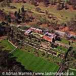 Powis Castle, Powys, 1 m S of Welshpool, Montgomeryshire. Stone keep and bailey on a ridge, North Wales