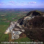 Quarry, on Breiddon Hill, NE of Welshpool, North Wales