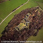 Castell y Bere, Large stone ruin in hill country, N of Abergynolwyn, Gwynedd, North Wales