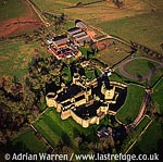 Raglan Castle, Village centre, 6 m NE of Usk Castle, 8 m SW of Monmouth. Hexagonal tower, massive gatehouse., South Wales
