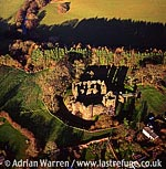 Grosmont Castle, 12 m NW Monmouth in Grosmont village centre. Stone ruin, South Wales