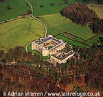 Chirk Castle, Stone quadrangular fortress, 1 m w of Chirk, south of Wrexham, A5/A483 + look for OFFA?s DYKE to the west, North Wales