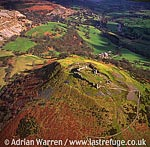 Castell Dinas Bran, 3 m NE of Llangollen, Denbighshire. Stone ruin ? remains of keep and curtain walls, North Wales