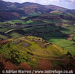 Castell Dinas Bran, 2 m NE of Llangollen, Denbighshire. Stone ruin ? remains of keep and curtain walls, North Wales