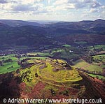Castell Dinas Bran, 1 m NE of Llangollen, Denbighshire. Stone ruin ? remains of keep and curtain walls, North Wales