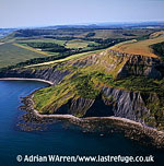 Cliffs near Chapman's Pool , Isle of Purbeck Heritage Coast, Dorset
