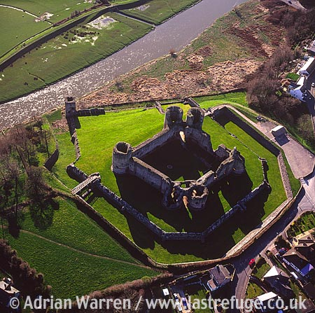 Rhuddlan Castle, In Rhuddlan town centre, North Wales