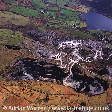 Quarry, Quarry near Cilgwyn, Snowdonia, North Wales