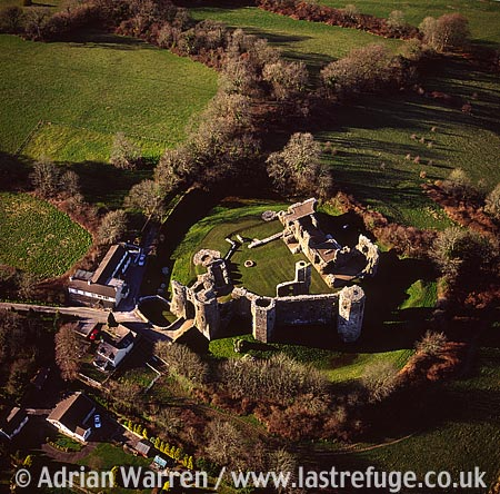 Llawhaden Castle, 10 m E of Haverfordwest, Pembrokeshire. Large and impressive stone ruin., South Wales