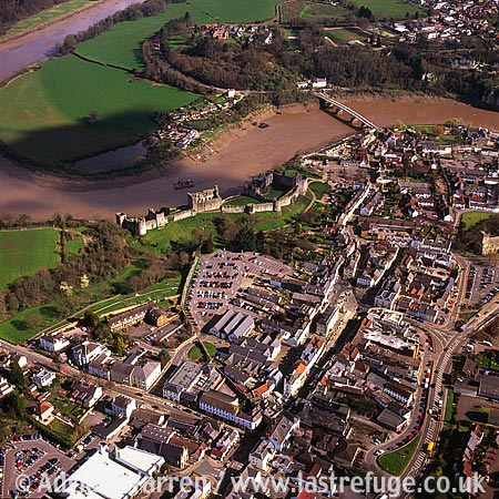 Chepstow Castle and Town , Town, South Wales