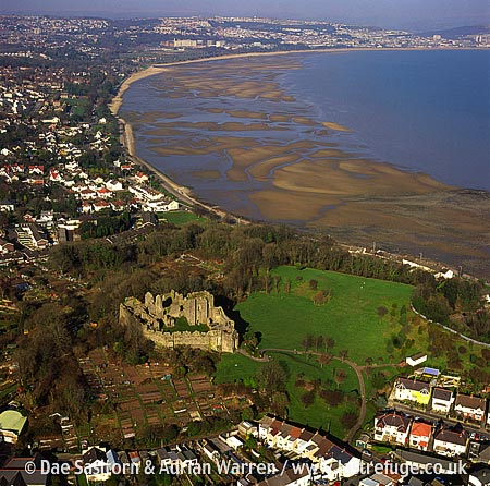 Oystermouth Castle, Gower, South Wales