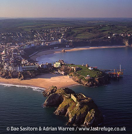 St Catherine's Fort, St Catherine's island, Tenby Castle, and town of Tenby, South Wales