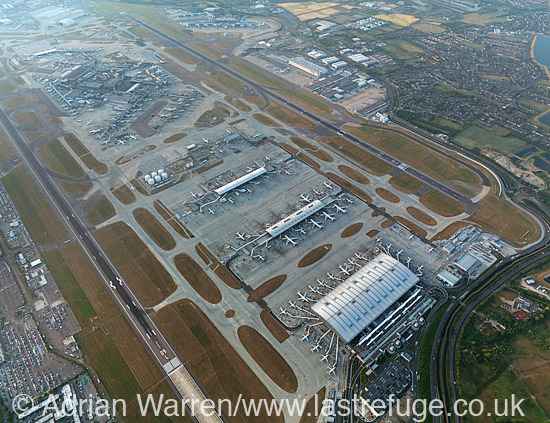 London Heathrow International Airport (show all Terminal 1, 2, 3, 4, 5 and Cargo Terminal, Hayes, Middlesex, June 2010