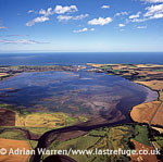 The Montrose Basin, part of the estuary of the South Esk forming a tidal basin near to the town of Montrose, Angus, Lowlands, Scotland