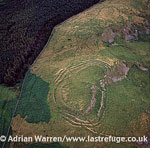 The Castles, an Iron Age hill fort and settlement, Sourhope, The Borders Scotland