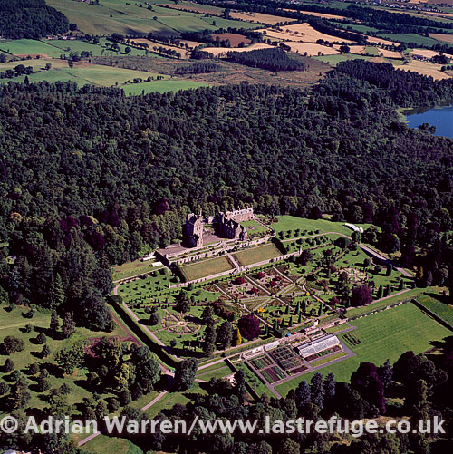 Drummond Castle is a little south of Crieff, Perthshire, Lowlands, Scotland
