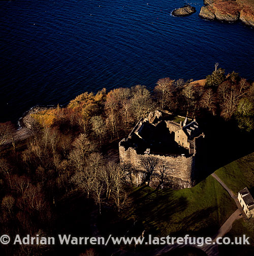 Dunstaffnage Castle, a ruined castle in Argyll and Bute, western Scotland