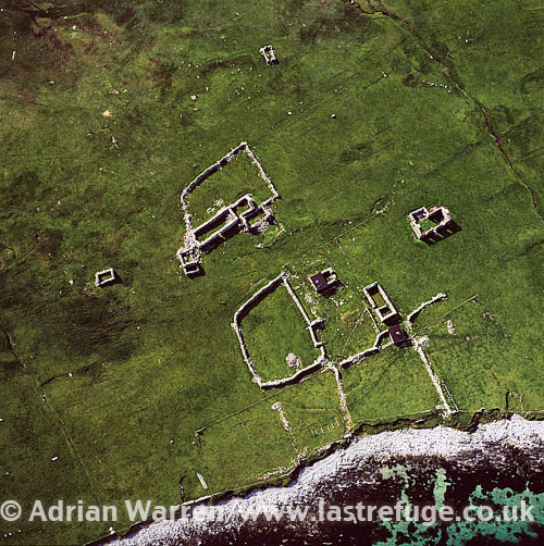Abandoned Farms, West Burra, Scalloway Islands, a subgroup of the Shetland Islands, Scotland