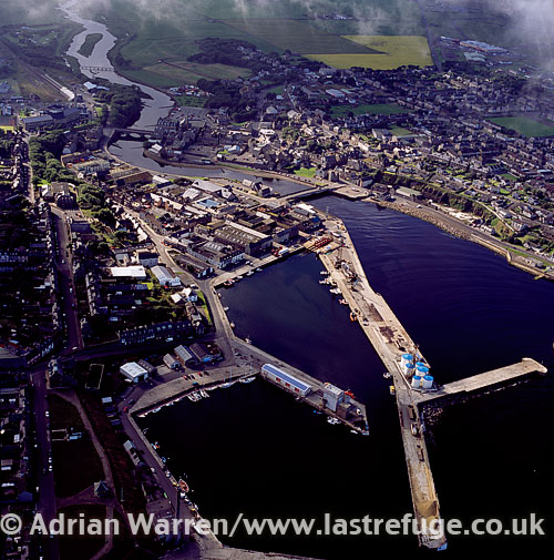 Wick, an estuary town and a former burgh in the north Highlands, Highlands, Scotland