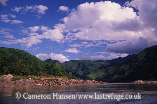 Landscape, Udomxai Province, Mekong River, Luang Prabang, Laos