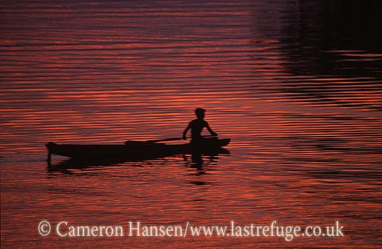 Canoes, Mekong River, Luang Prabang, Laos