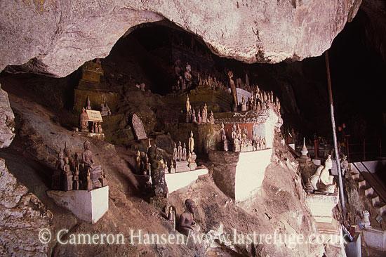 Pak Ou Caves (Tham Ting) / Buddha Statues, Mekong River, Luang Prabang, Laos