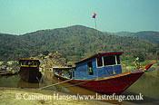 Passenger River Boat, Mekong River, Luang Prabang, Laos