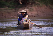 People / Canoe/River Crossing, Mekong River, Luang Prabang, Laos