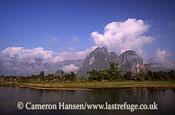 Landscape, Vang Vieng Province, Mekong River, Luang Prabang, Laos