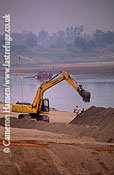Constructing Sand Walls, Flood Prevention, Mekong River, Luang Prabang, Laos