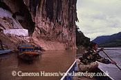 Pak Ou Caves (Tham Ting) / Boats, Mekong River, Luang Prabang, Laos
