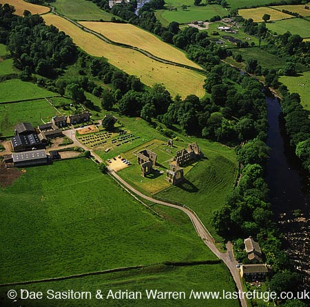 Egglestone Priory and River Tees, South of Barnard Castle, Durham, England