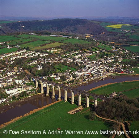 Viaduct over river Tamar, Calstock, Cornwall, England